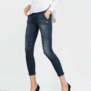 Zara moto ankle skinny jeans z1975 10